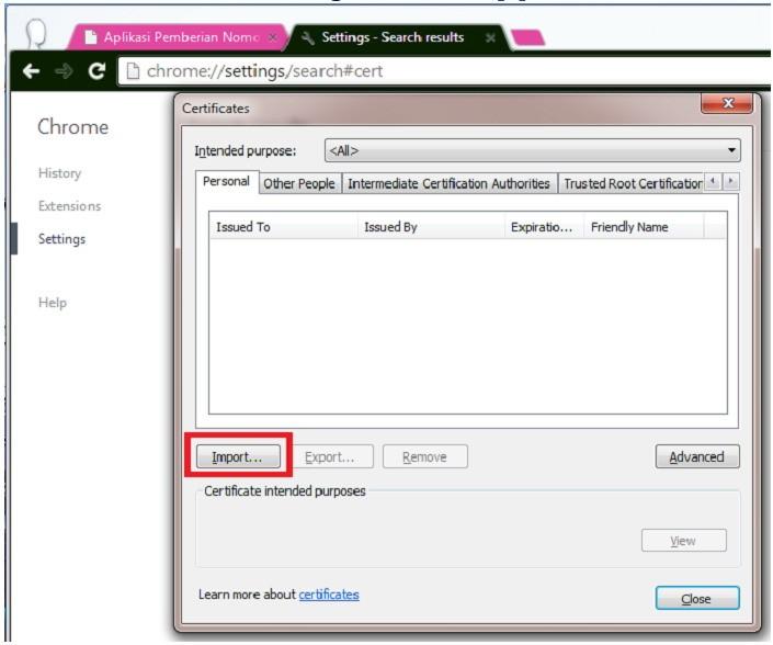 Cara Instal Sertifikat Elektronik Pajak untuk e-Nofa #2