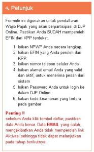 Cara Daftar Djp Online E Pajak Online