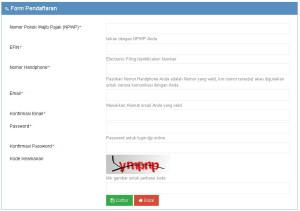 daftar-e-fin-untuk-djp-online